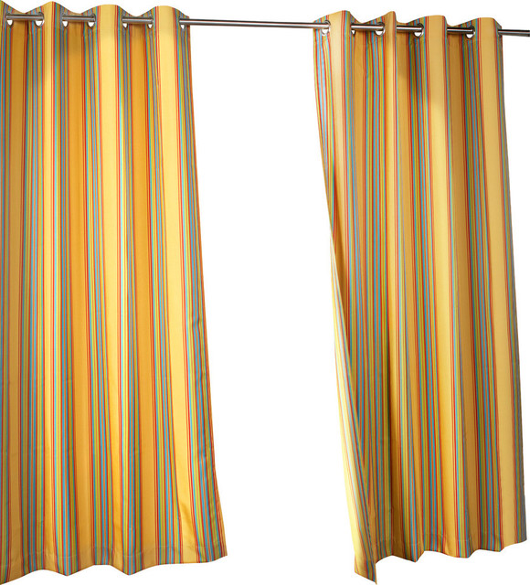 Commonwealth Home Fashions Outdoor Stripe Grommet Top