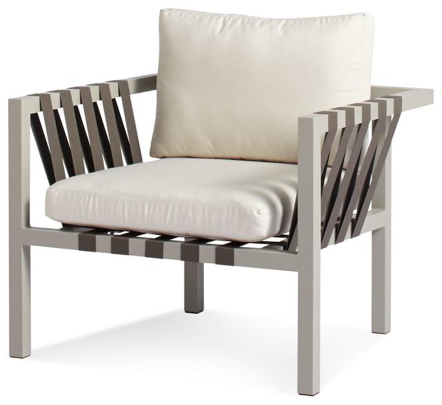 Blu Dot Jibe Outdoor Lounge Chair Grey Sunbrella Canvas Modern Patio Furniture