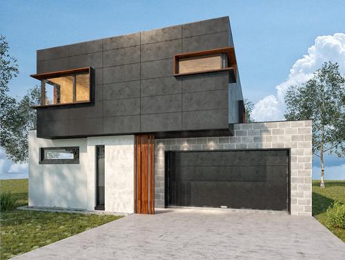 Help with besser block colour for garage for Besser block home designs