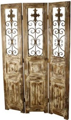 Shop Houzz Wefurnit Tuscany Screen With Wrought Iron A