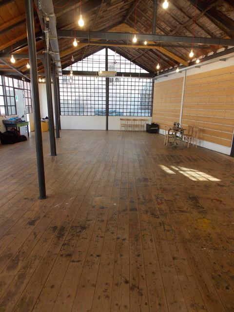 Riconversione a laboratorio teatrale e spazio polivalente contemporaneo-facciata