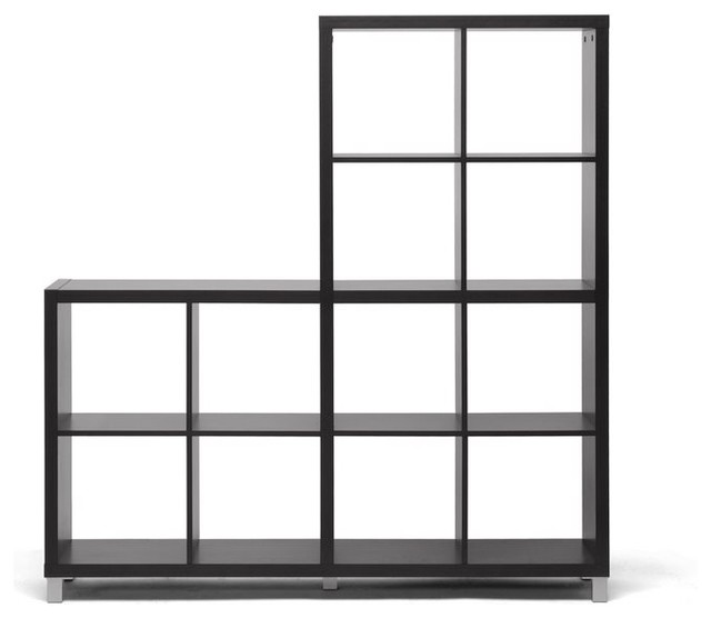 Sunna Dark Brown Modern Cube Shelving Unit Contemporary - Cube shelves