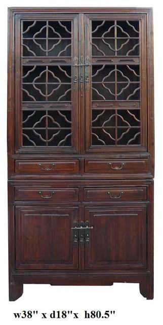 Vintage Chinese Stack Curio Kitchen Cabinet