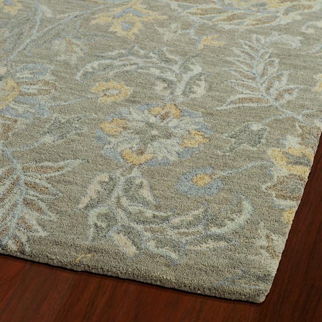 Volmer Hand-Tufted Wool Runner Rug, Sage, 2&x27;6x12&x27;.