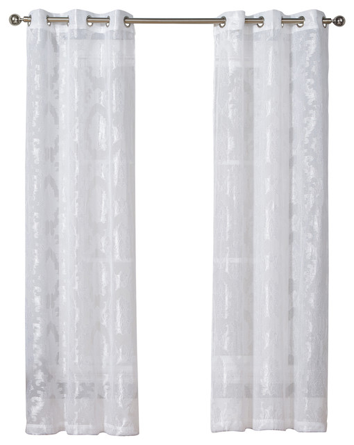 Josephina Semi-Sheer Linen Look Pair.