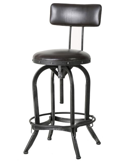 Samthorn Bar Stool With Backrest industrial-bar-stools-and-counter-stools  sc 1 st  Houzz & Samthorn Bar Stool With Backrest - Industrial - Bar Stools And ... islam-shia.org