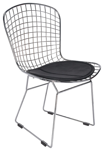 Marvelous Modern Metal Dining Side Chair, Black Dining Chairs
