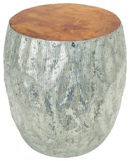 Gartenmobel Kettler Auflagen : Benzara, Woodland Imports, The Urban Port Aluminum Teak Foot Stool