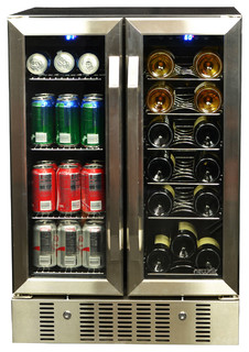Newair 18 Bottle And 60 Can Dual Zone Wine And Beverage