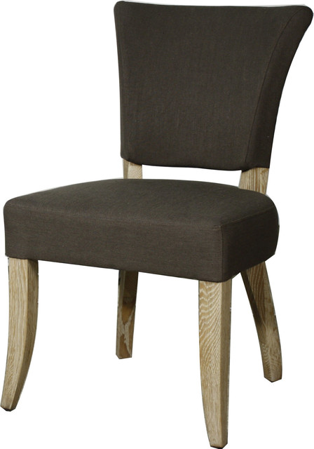 Austin Fabric Chairs, Set of 2, Bark by New Pacific Direct Inc.