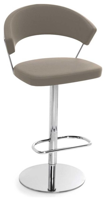 New York Gummy Leather Swiveling Bar Stool With Gas Lift Taupe modern-bar-  sc 1 st  Houzz & New York Swiveling with Gas Lift Bar Stool Gummy Leather - Modern ... islam-shia.org