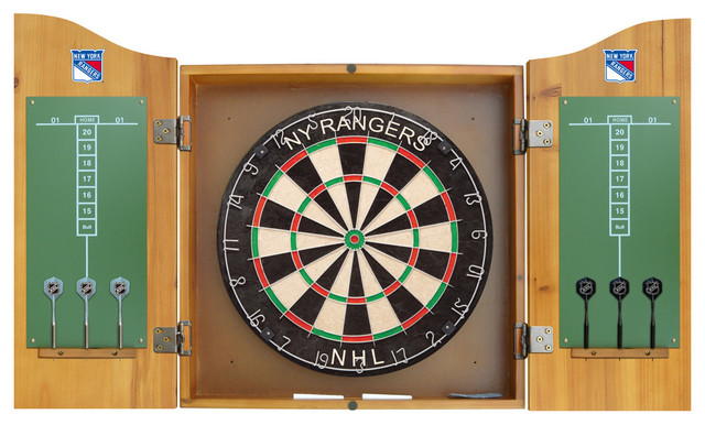 New York Rangers Dart Board and Cabinet - Contemporary - Darts And Dartboards - by Team Sports