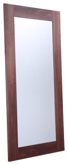 View Mirror, Walnut Veneer.