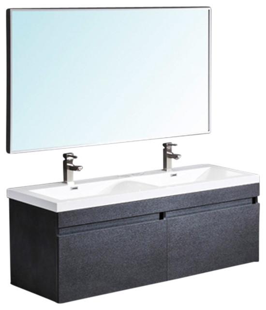 Fresca Largo Bathroom Vanity Wavy Double Sinks Modern Bathro