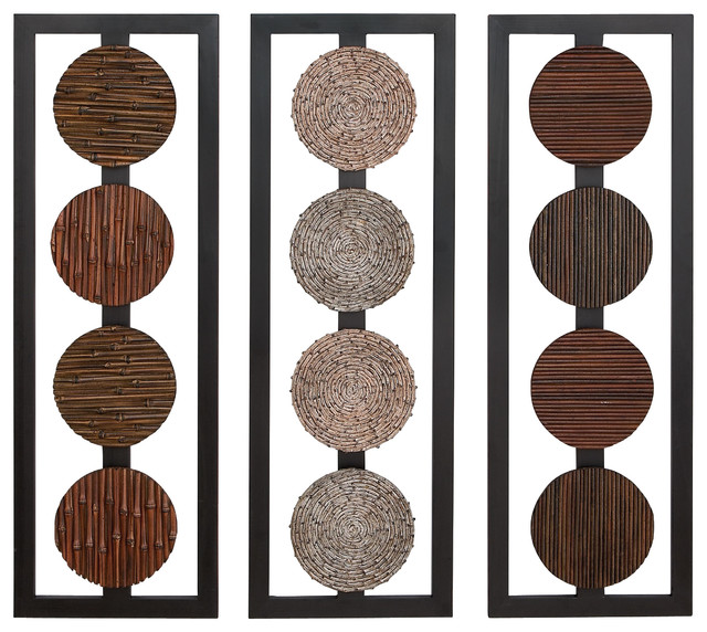 Wood Wall Art Panels wooden circles wall panels - contemporary - wall accents -abc
