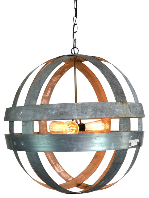 Wine Barrel Lighting Atom Cyclopean Chandelier