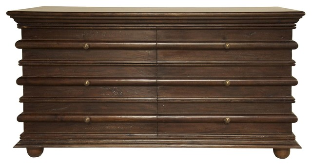 """61"""" Long Denis Chest Hand Rubbed Black Solid Mahogany Hand Rubbed Black Finish"""
