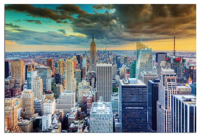 Tempered Glass Wall Art, New York Skyline World Trade Center 2 ...