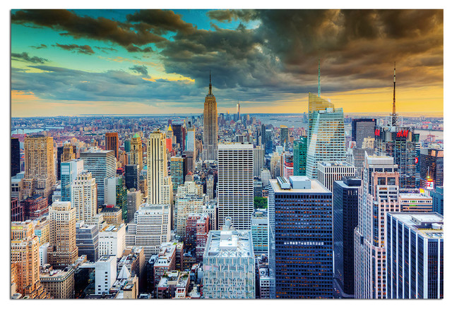 Tempered Glass Wall Art, New York Skyline World Trade Center 2  Traditional Prints