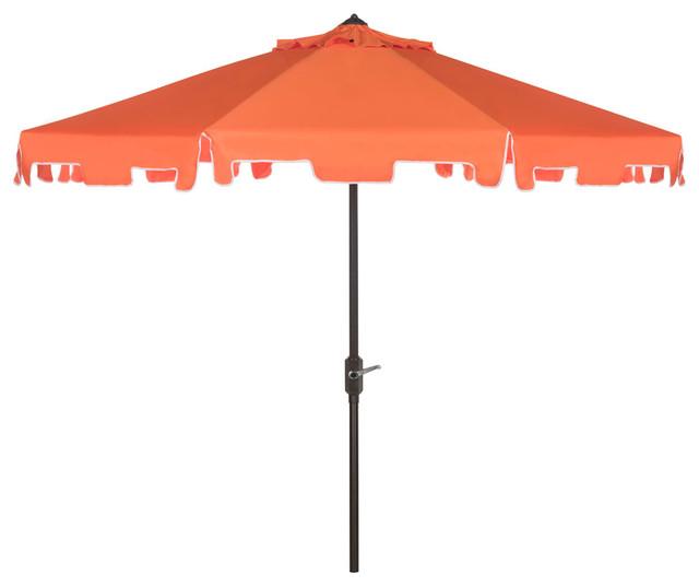 Uv Resistant Zimmerman 9' Crank Market Auto Tilt Umbrella With Flap