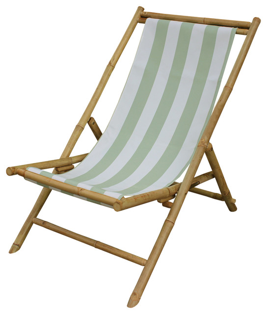 Bamboo Indoor Outdoor Sling Lounge Chair For Patio Or Deck Asian Chairs By Ers Choice Usa