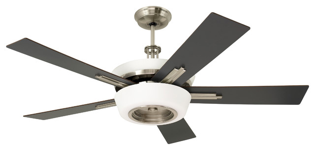 Emerson Laclede Eco 62 Ceiling Fan, Brushed Steel.