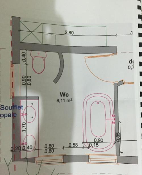 Besoin d 39 aide pour l 39 agencement d 39 une salle de bain for Implantation salle de bain 8m2