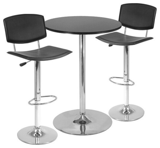 pub table 8 chairs set black metal spectrum round airlift 3 piece cheap