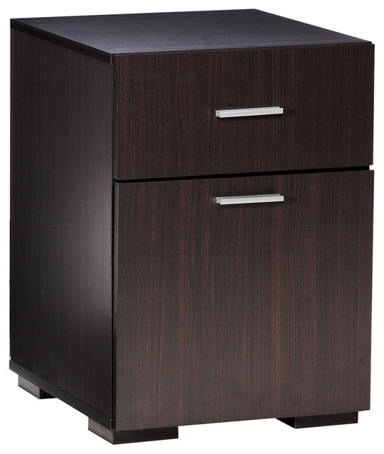 Olivia 2 Drawer Lateral File Cabinet by Comfort Products, Espresso