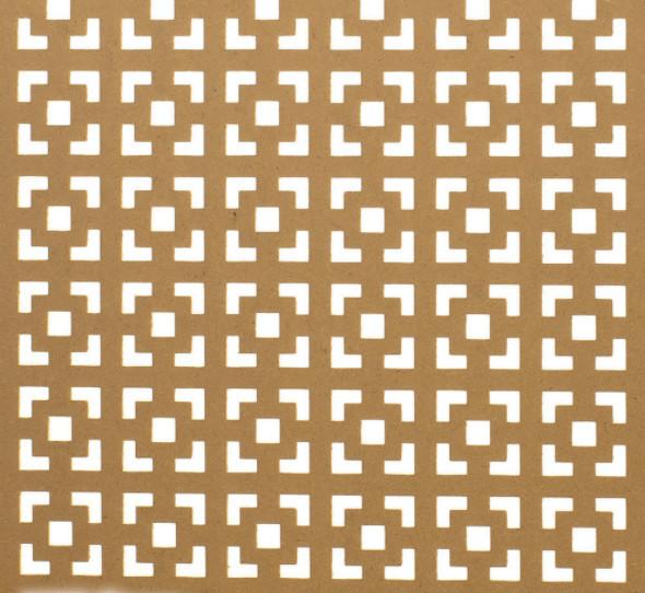 72w X 24h X 1/8 Thick Multi Square Decorative Screening Insert Panel.