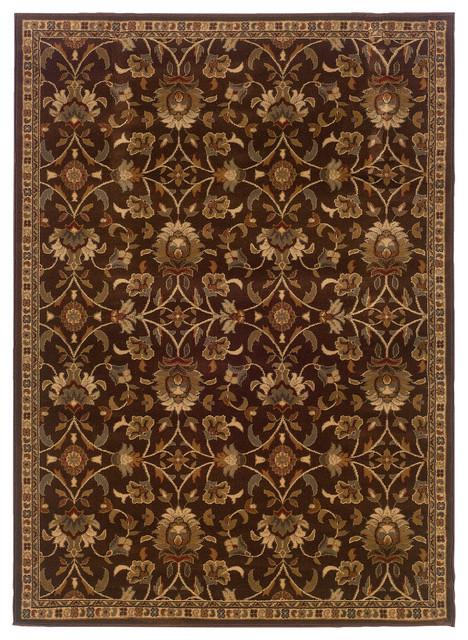 Oriental Weavers Amelia 2331k Brown/beige Floral Area Rug, 8&x27;2x10&x27;.