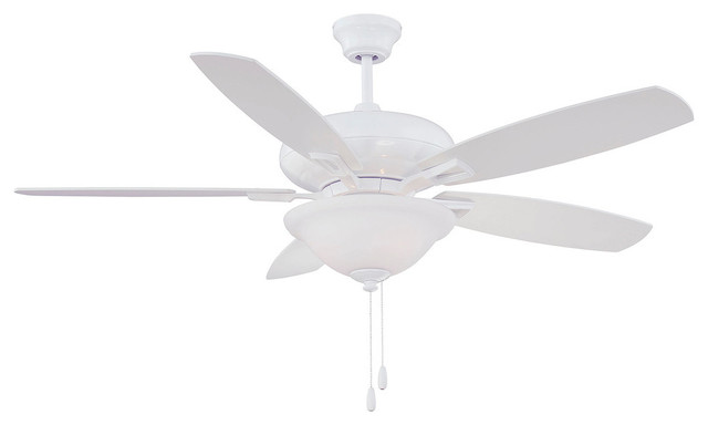 "Savoy House Mystique 52"" 5 Blade Ceiling Fan, White."