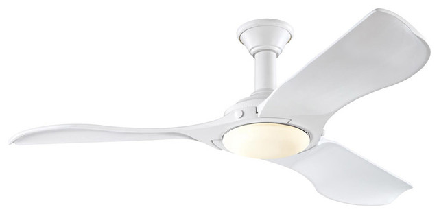 Minimalist 156-Light Indoor Ceiling Fans, Rubberized White.