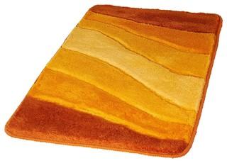 Saffron Non Slip Washable Bathroom Rug, Ocean, Medium