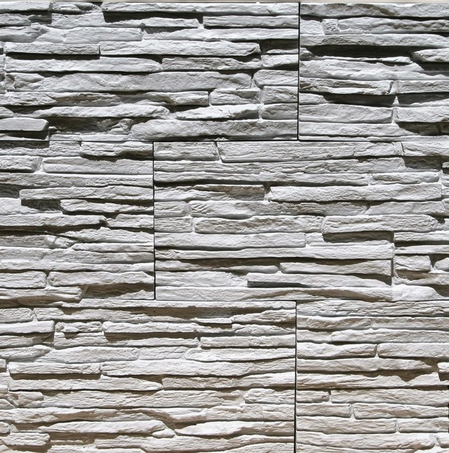Thin Gypsum Stone-Look Wall Decor Pegasus Light Gray - Traditional ...