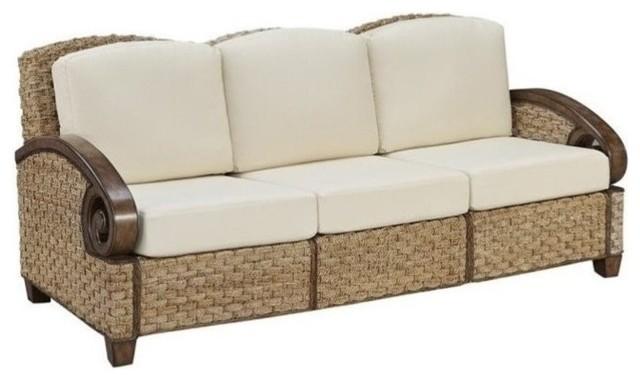 Home Styles Cabana Banana III Three Seat Sofa In Honey