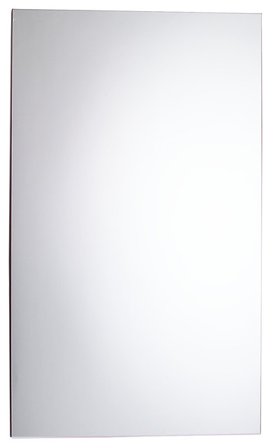 """Pl Series Flat Top Cabinet, Polished Edge, Non-Handed, Gray Interior, 24""""x40""""."""