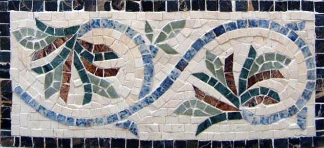 Mosaic Tile Patterns Coneflowers