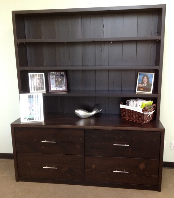 executive office credenza - rustic - home office accessories