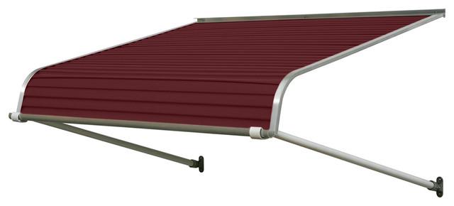 """1100 Series Aluminum Door Canopy 84""""x24"""" Projection, Burgundy"""