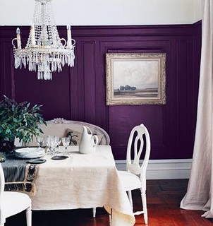 Purple dining room by dominomag traditional dining room