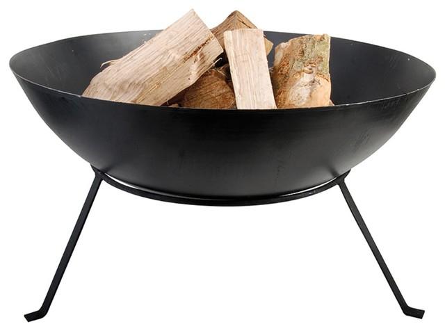 """Esschert Design Portable 23"""" Black Fire Pit Bowl"""