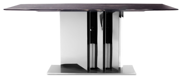nero dining table with marble top black