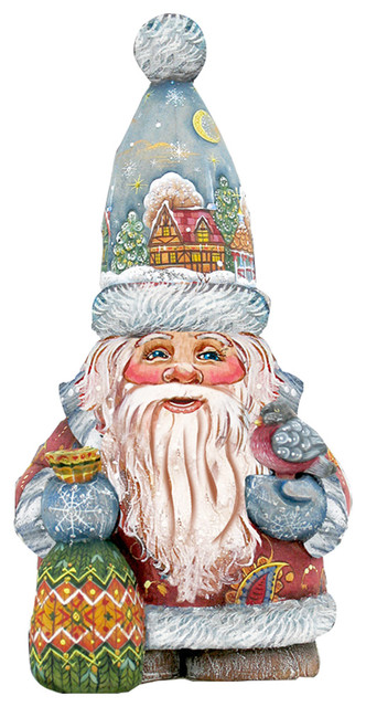 Old World Christmas Santa Decorative Holiday Door Hanger.