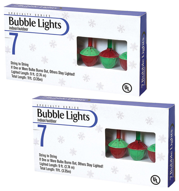 Multi-Color Bubble Lights, Set Of 2.