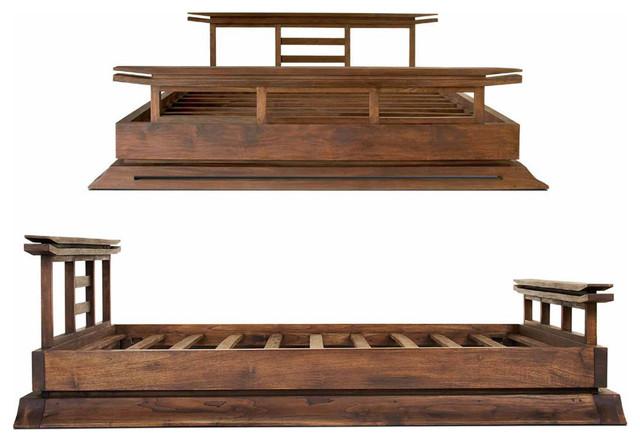 Harmonia Living Kondo Platform Bed, Queen/java Teak.