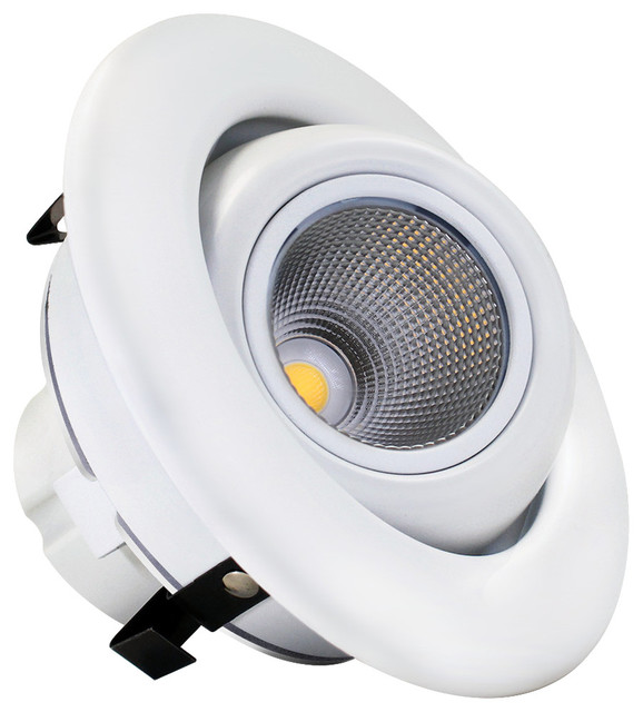 Shop Houzz TORCHSTAR 4 LED Gimbal Recessed Downlight 10W Dimmable Ce