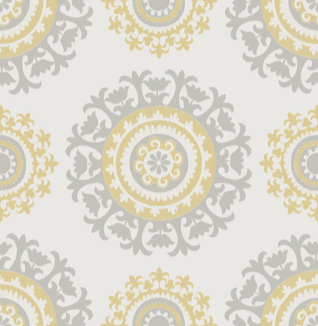 Suzani Textile Pattern Peel And Stick Wallpaper