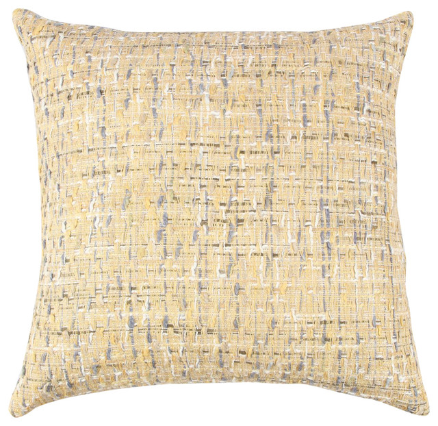 "Rizzy Home Throw Pillow With Zipper Closer, 22""x22""."