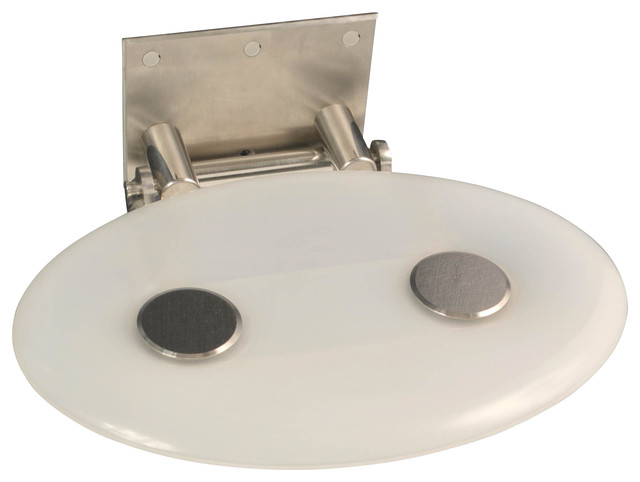 Fold Up Shower oval fold-up shower or tub seat - contemporary - shower benches